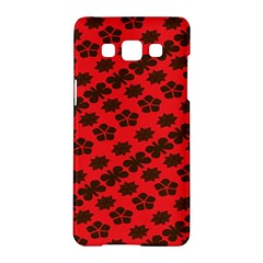 Diogonal Flower Red Samsung Galaxy A5 Hardshell Case  by AnjaniArt