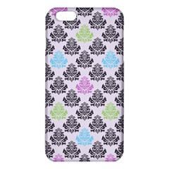 Damask Small Flower Purple Green Blue Black Floral Iphone 6 Plus/6s Plus Tpu Case