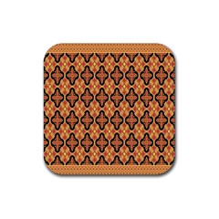 Flower Batik Rubber Square Coaster (4 Pack)  by AnjaniArt