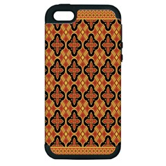 Flower Batik Apple Iphone 5 Hardshell Case (pc+silicone)