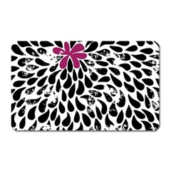 Flower Simple Pink Magnet (rectangular) by AnjaniArt