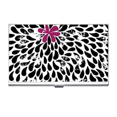 Flower Simple Pink Business Card Holders by AnjaniArt