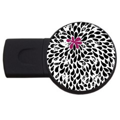 Flower Simple Pink Usb Flash Drive Round (4 Gb)  by AnjaniArt