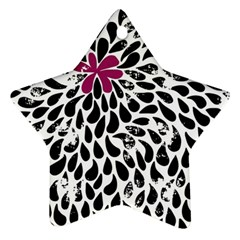 Flower Simple Pink Star Ornament (two Sides)