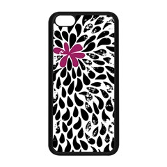 Flower Simple Pink Apple Iphone 5c Seamless Case (black) by AnjaniArt
