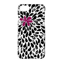Flower Simple Pink Apple Iphone 7 Hardshell Case by AnjaniArt