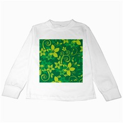 Flower Yellow Green Kids Long Sleeve T Shirts