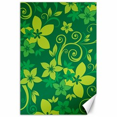 Flower Yellow Green Canvas 20  X 30   by AnjaniArt