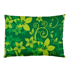 Flower Yellow Green Pillow Case by AnjaniArt