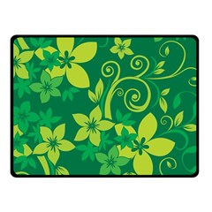 Flower Yellow Green Fleece Blanket (small) by AnjaniArt