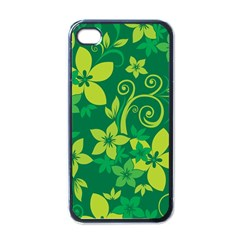 Flower Yellow Green Apple Iphone 4 Case (black)