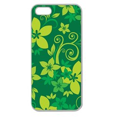Flower Yellow Green Apple Seamless Iphone 5 Case (clear) by AnjaniArt
