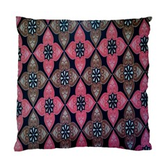 Flower Pink Gray Standard Cushion Case (two Sides) by AnjaniArt