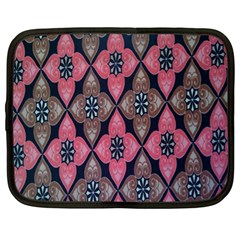 Flower Pink Gray Netbook Case (xl)  by AnjaniArt