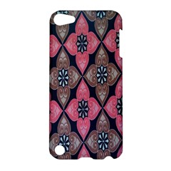 Flower Pink Gray Apple Ipod Touch 5 Hardshell Case by AnjaniArt
