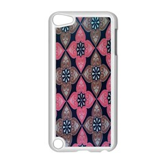 Flower Pink Gray Apple Ipod Touch 5 Case (white) by AnjaniArt
