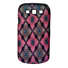 Flower Pink Gray Samsung Galaxy S Iii Classic Hardshell Case (pc+silicone) by AnjaniArt