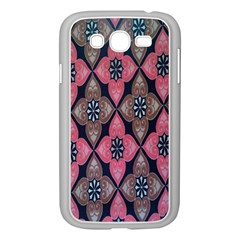 Flower Pink Gray Samsung Galaxy Grand Duos I9082 Case (white) by AnjaniArt
