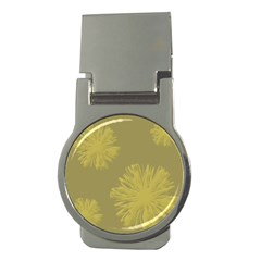 Flower Yelow Money Clips (round)  by AnjaniArt