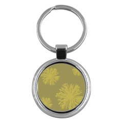 Flower Yelow Key Chains (round)  by AnjaniArt