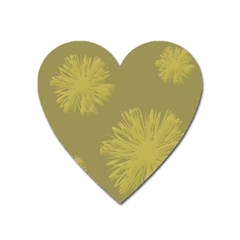Flower Yelow Heart Magnet by AnjaniArt