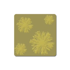 Flower Yelow Square Magnet by AnjaniArt