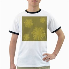 Flower Yelow Ringer T Shirts
