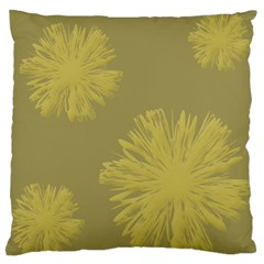 Flower Yelow Large Cushion Case (one Side) by AnjaniArt