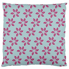 Flowers Fushias On Blue Sky Standard Flano Cushion Case (one Side) by AnjaniArt