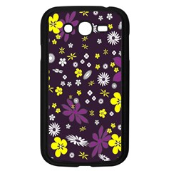 Floral Purple Flower Yellow Samsung Galaxy Grand Duos I9082 Case (black) by AnjaniArt