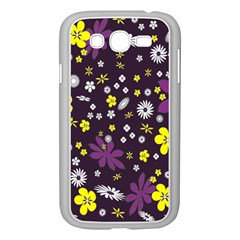 Floral Purple Flower Yellow Samsung Galaxy Grand Duos I9082 Case (white) by AnjaniArt