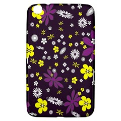 Floral Purple Flower Yellow Samsung Galaxy Tab 3 (8 ) T3100 Hardshell Case  by AnjaniArt