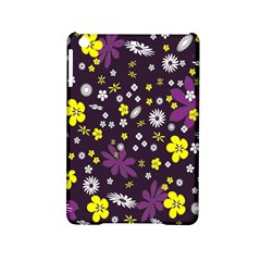 Floral Purple Flower Yellow Ipad Mini 2 Hardshell Cases by AnjaniArt