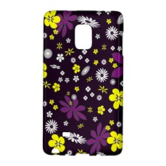 Floral Purple Flower Yellow Galaxy Note Edge by AnjaniArt