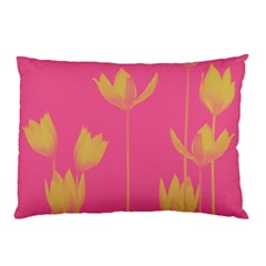 Flower Yellow Pink Pillow Case (two Sides)