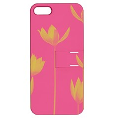 Flower Yellow Pink Apple Iphone 5 Hardshell Case With Stand by AnjaniArt
