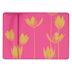 Flower Yellow Pink Samsung Galaxy Tab 10 1  P7500 Flip Case