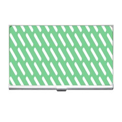 Green White Desktop Business Card Holders by AnjaniArt