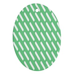 Green White Desktop Oval Ornament (two Sides)