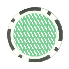 Green White Desktop Poker Chip Card Guards