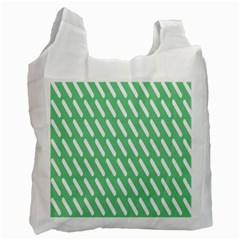 Green White Desktop Recycle Bag (one Side) by AnjaniArt