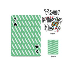 Green White Desktop Playing Cards 54 (mini)  by AnjaniArt