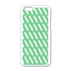 Green White Desktop Apple Iphone 6/6s White Enamel Case by AnjaniArt