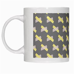 Hearts And Yellow Crossed Washi Tileable Gray White Mugs