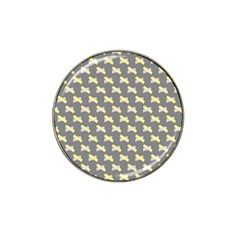 Hearts And Yellow Crossed Washi Tileable Gray Hat Clip Ball Marker (10 Pack)