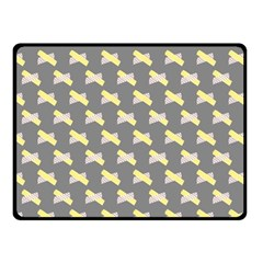 Hearts And Yellow Crossed Washi Tileable Gray Fleece Blanket (small) by AnjaniArt