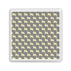 Hearts And Yellow Crossed Washi Tileable Gray Memory Card Reader (square)