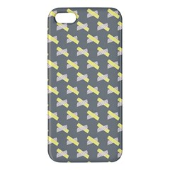 Hearts And Yellow Crossed Washi Tileable Gray Iphone 5s/ Se Premium Hardshell Case