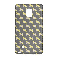 Hearts And Yellow Crossed Washi Tileable Gray Galaxy Note Edge