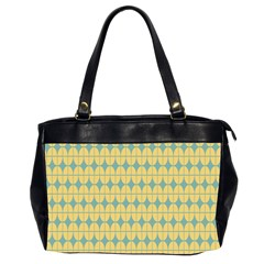 Green Yellow Office Handbags (2 Sides)  by AnjaniArt